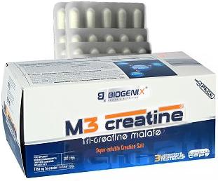 купить Biogenix M3 Creatine Tri-Creatine Malate 300 капсул украина