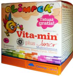 купить Детские мульти витамины Olimpek Vita-Min plus Junior 15 пакетиков украина киев винница
