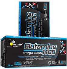 купить OLIMP L-Glutamine Mega Caps blister (120 капс) украина