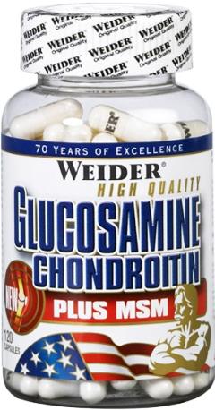 купить Weider Glucosamine Chondroitine Plus MSM 120 капсул украина